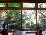 The view out of the back of a restaurant near the Dazaifu Tenmangu Shrine