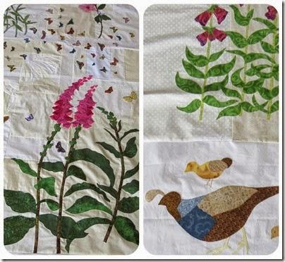 Flutter of butterflie prequiltingRibbet collage