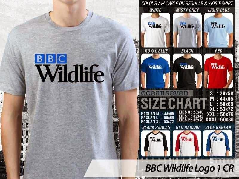 Kaos Magz BBC Wildlife Logo 1 Majalah & Media distro ocean seven