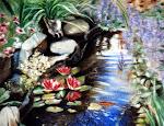 Mon jardin d'eau, pastel sec, 16 x 20 po.