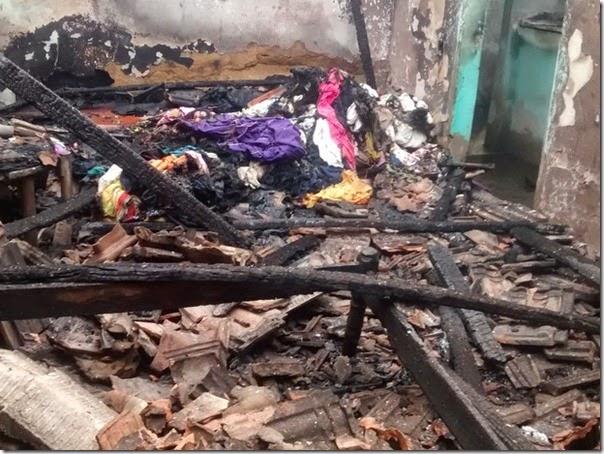 Vazamento de gás causa incêndio e destrói casa de idosa em Ipatinga