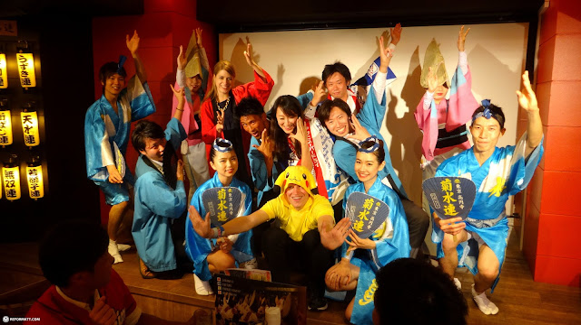 receiving a warm welcome by my friends in Tokyo in Tokyo, Tokyo, Japan