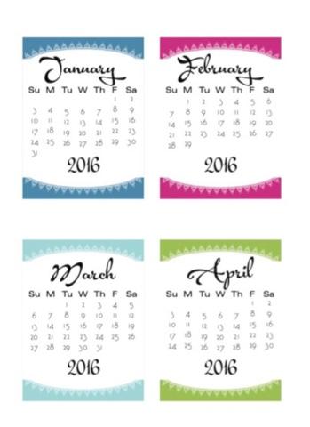 Calendars 2016 Monitor Strips | Calendar Template 2016