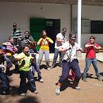 Baile loco del equipo Rojo