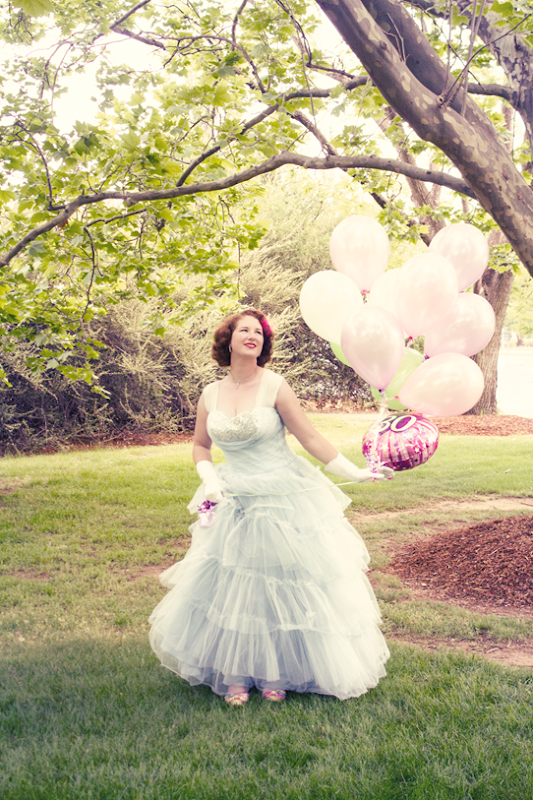 My princess moment ~ in a vintage ball gown | Lavender & Twill