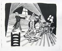 Dej BAO. 071 . Un Chemin dans la Pierre . 1978 .Lithographie . 36,5 x 55 cm