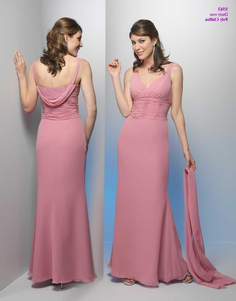 A-Line V-neck Floor- Length