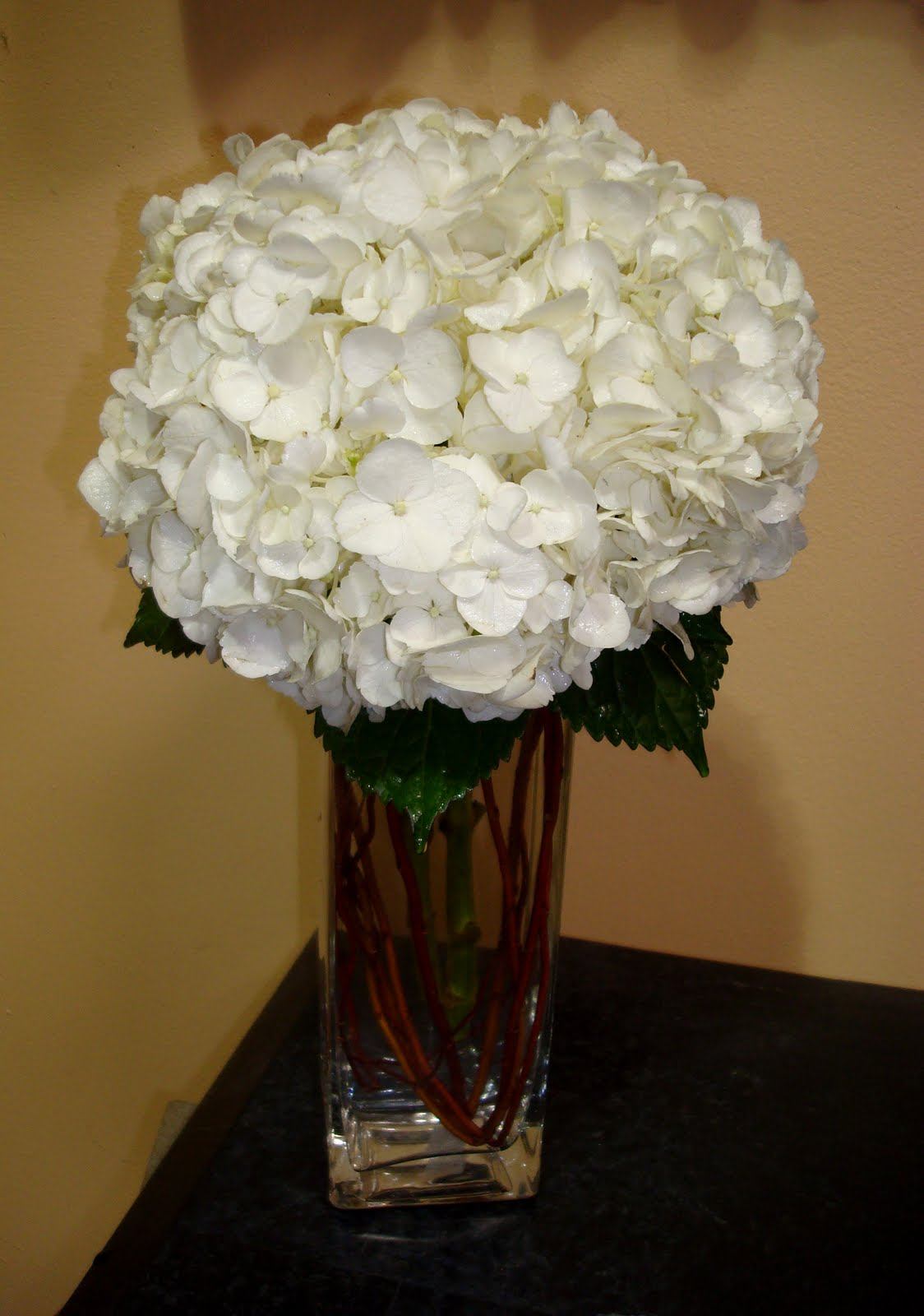 Nana s hydrangea centerpieces for