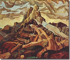 ArthurLismer-Cathedral-Mountain-1928