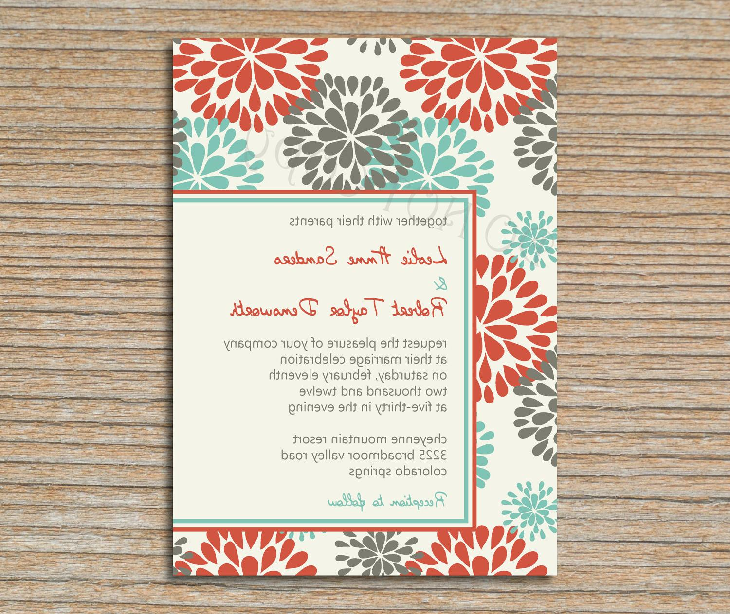 Wedding Invitation - Floral