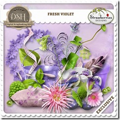 Digital scrapbook set the fresh violet