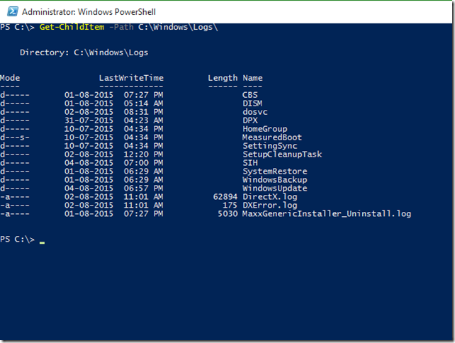 System Administrators' Library: PowerShell Commands – Get-ChildItem - 1