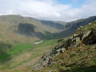 Longsleddale from ascent of Grey Crag - it was a steep climb