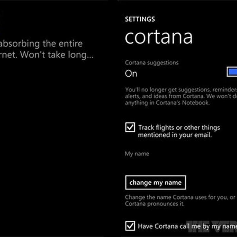 Guida per usare Cortana in Windows Phone 8.1: Impostazioni.