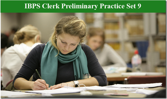IBPS Clerk Preliminary Question paper PDF Set 9
