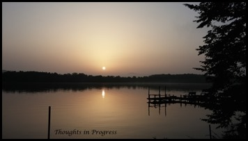 lake at sunrise 4 - Thoughts in Progress