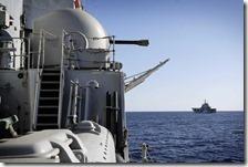 Navi italiane in acque territoriali della Libia