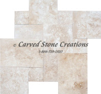Tuscany Beige Standard Versailles Pattern H/F Travertine Tile 16SF/Set