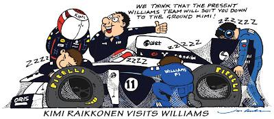 Кими Райкконен посетил базу Williams - комикс Jim Bamber