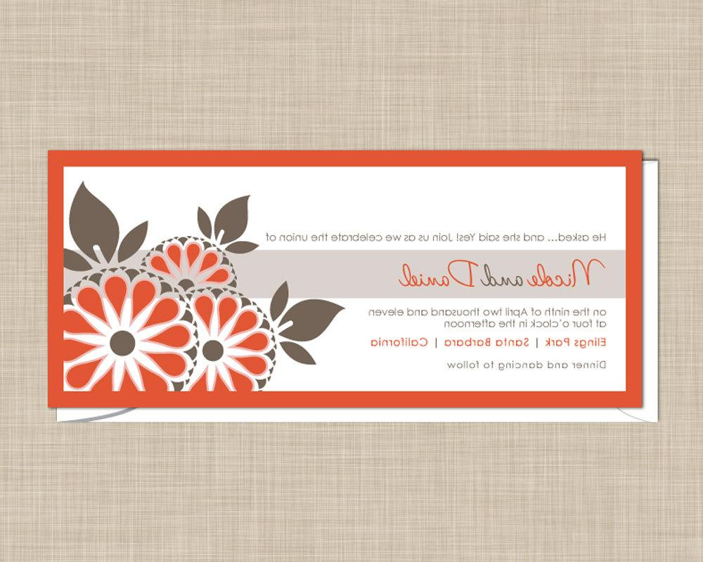 Blossom Wedding Invitations. From onereverie