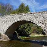 gorgeous bridge on a gorgeous day at Webster's Falls in Ontario, Canada in Dundas, Ontario, Canada