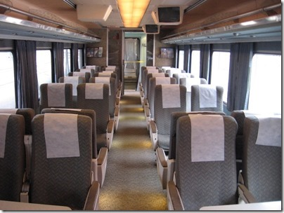 IMG_0708 Amtrak Cascades Talgo Pendular Series VI Coach Class Interior at Union Station in Portland, Oregon on May 10, 2008