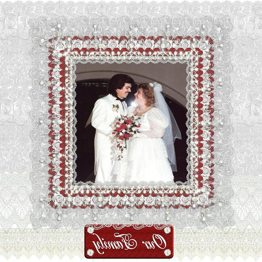 Digital wedding layout with