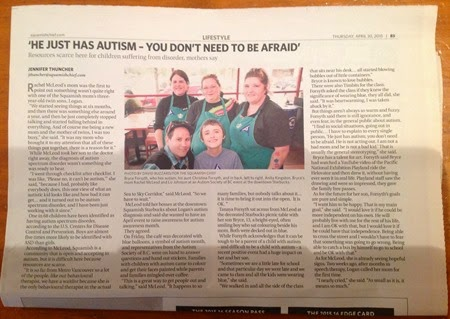 The Squamish Chief newspaper - ''He just has autism – you don't need to be afraid'