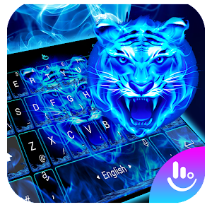 Neon Tiger King Keyboard Theme For PC