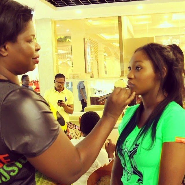 Omotola Jalade and Daughter Meraiah Shoot New knorr Ad Togrther.