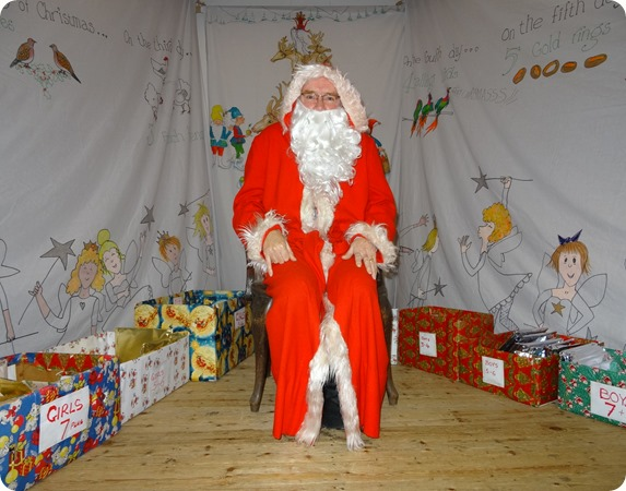 Father Christmas at the Cancer Research UK Christmas  Fair