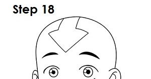 drawing 1 avatar aang avatar the last airbender road to animation