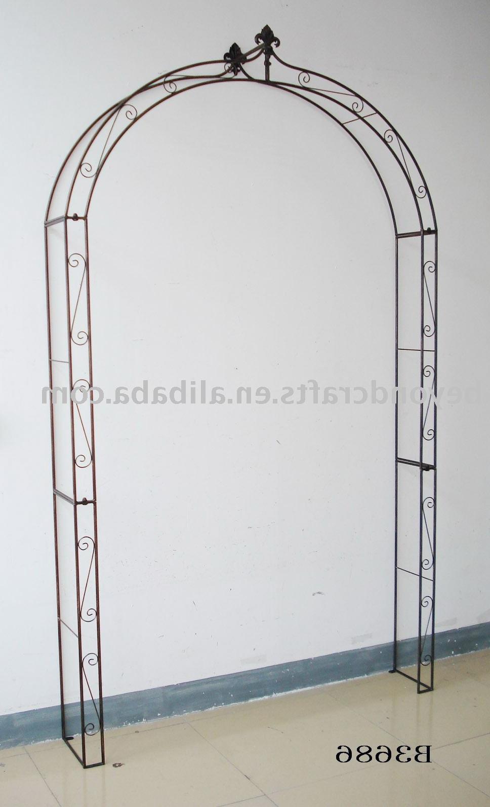 iron garden arches Wooden