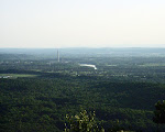 View of Dickerson, Maryland, from the summit of Sugarloaf Mountain near Barnesville, Maryland.