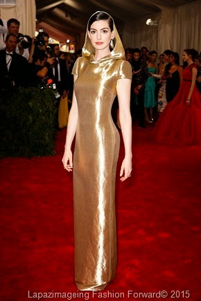 Anne Hathaway in Custom Ralph Lauren
