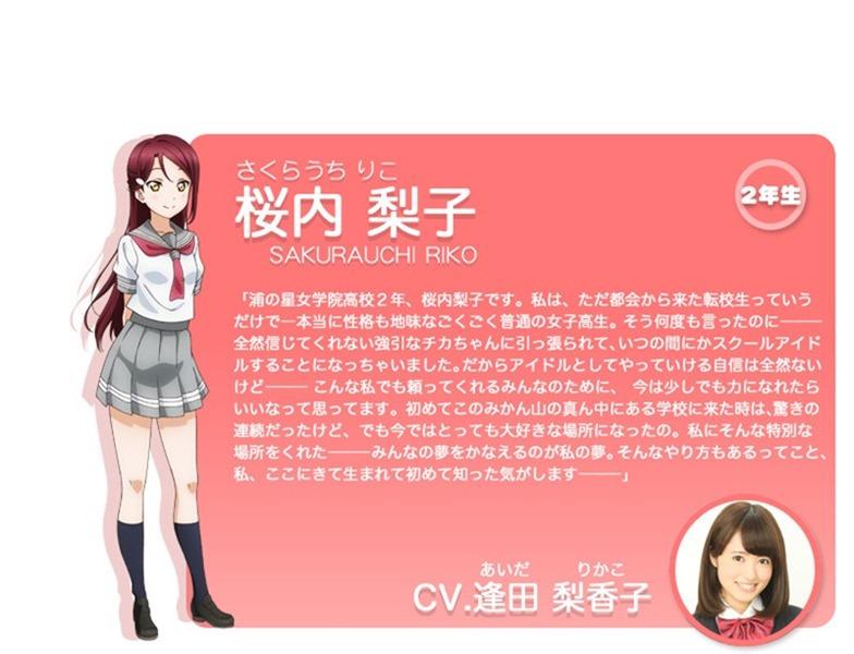 Riko Sakurauchi love live anime