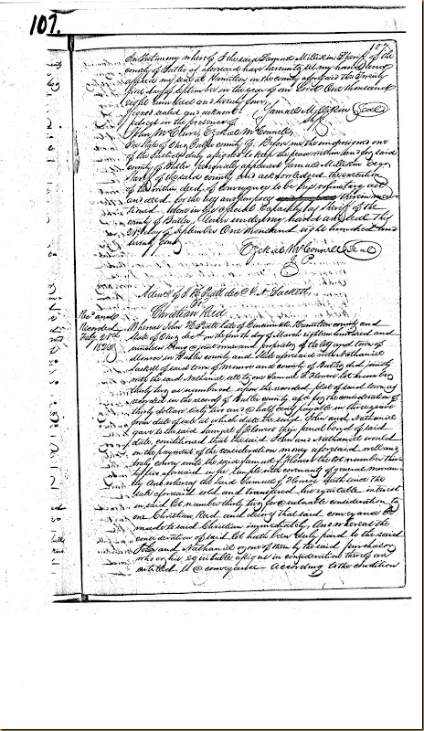William Nixon,Elizabeth Nixon,Butler Co, OH convey James Irwin 1824 4