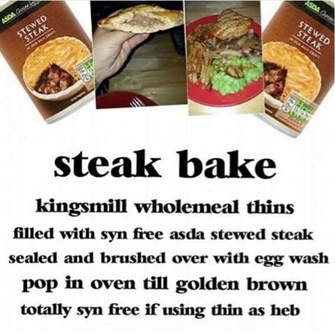 Ginjabird Slimming World Pasty Steak Bake Recipe