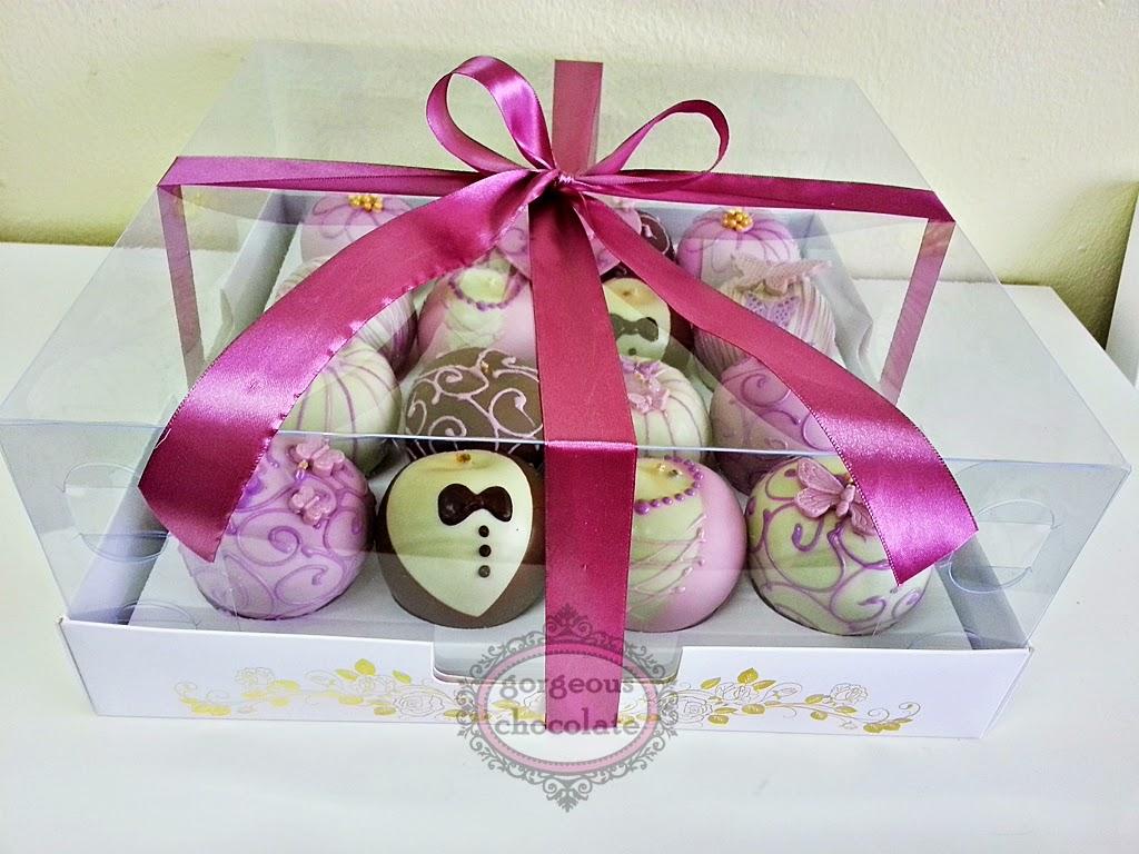 My Gorgeous Homemade Chocolate: Dipped Apple Box 16 Purple Theme