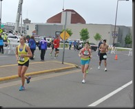 Cheryl with less than 1/4 mile to go!