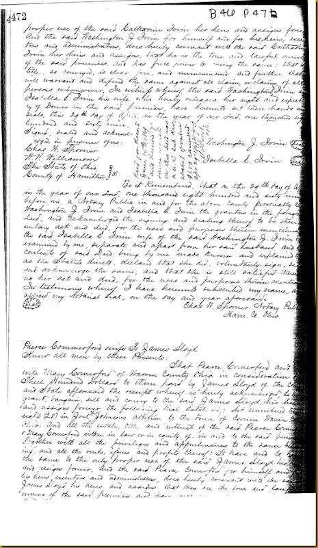 Washington J. Irvin,Isabella E. IrvinCincinnati, Hamilton Co,OH18691