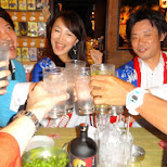 cheersing with my friends in Tokyo, Tokyo, Japan