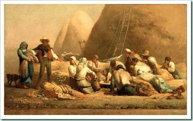 millet ruth&boaz harvesters resting
