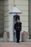 Paleiswacht bij het Koninklijk Paleis in Oslo.
