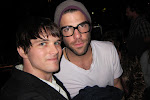 a picture with my new friend Zachary Quinto...you may know him as fuckin' Spock! What a great geek moment! If only Leonard Nemoy was a country fan...