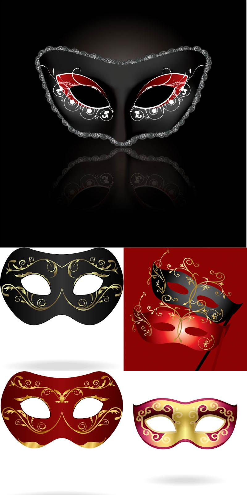 Theme: vector masks, carnival
