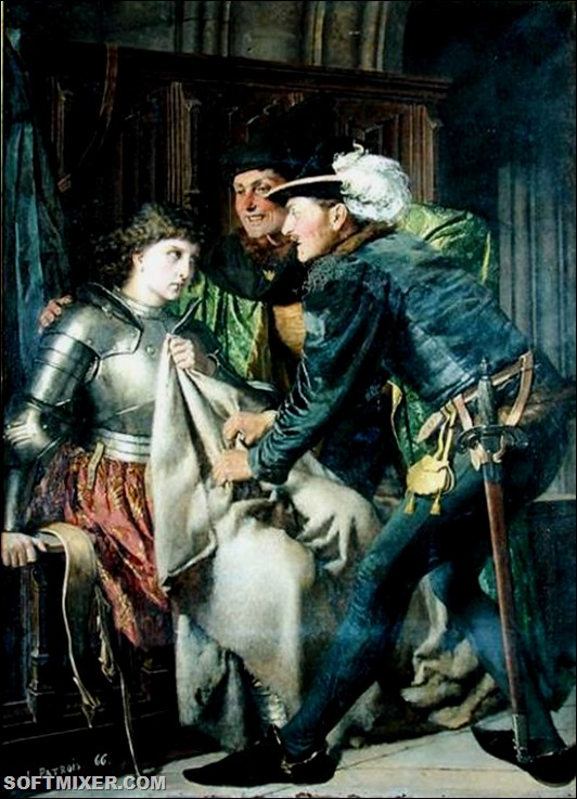 1866-Isidore-Patrois-Joan-of-Arc-_1412-31_-Insulted-in-Prison