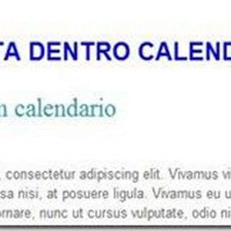 Come creare in Blogger un formato data in stile calendario Wordpress.