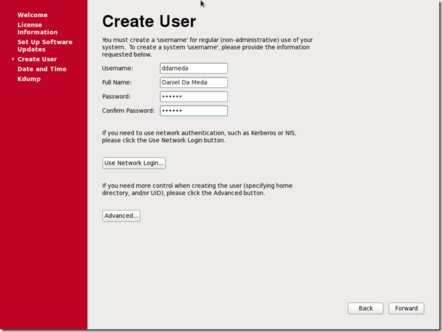 Install OS Screen 40