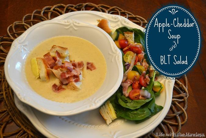 Apple Cheddar Soup with BLT Salad